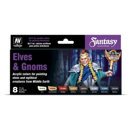 Vallejo MODEL COLOR ELVES AND GNOMS - 8 acrylic colors 17 ml