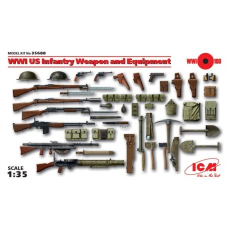 ICM 35688 WWI US Infantry Weapon and Equipment