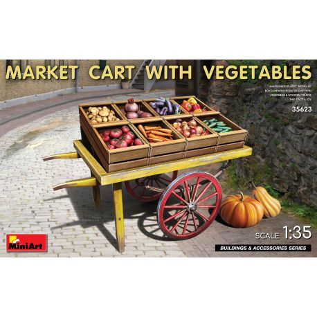 MINIART 35623 MARKET CART WITH VEGETABLES