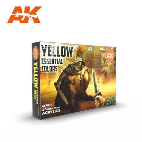 AK INTERACTIVE 3rd Generation- YELLOW ESSENTIAL COLORS set
