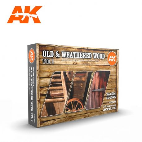 AK INTERACTIVE 3rd Generation- OLD & WEATHERED WOOD VOL 1