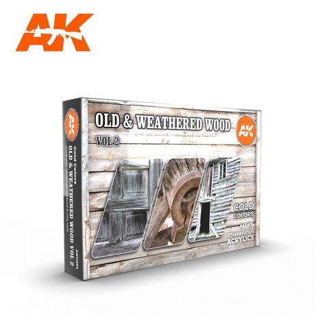 AK INTERACTIVE 3rd Generation- OLD & WEATHERED WOOD VOL 2