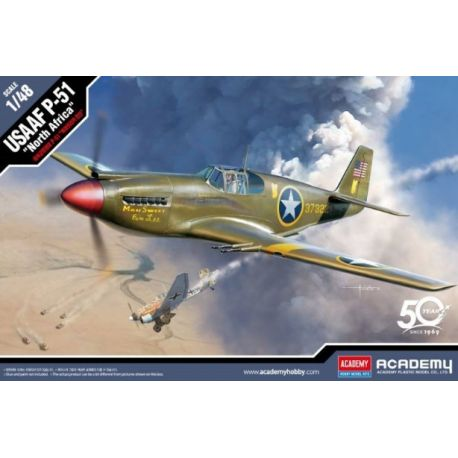 "ACADEMY 12338 USAAF P-51 ""North Africa"" 1/48"