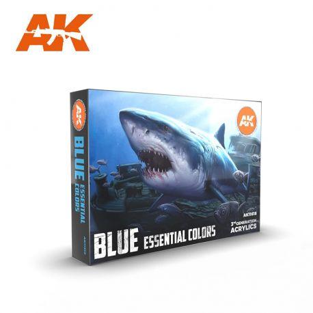 AK Iinteractive 11618 3rd Generation Blue Essential Colors Set