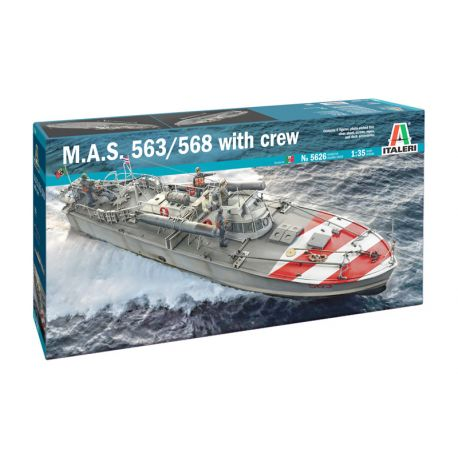 ITALERI 5626 M.A.S. 568 4a Serie with CREW and accessories 1/35