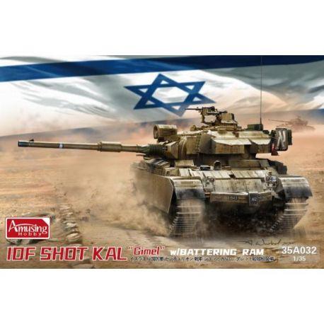 "AMUSING HOBBY 35A032 IDF SHO'T KAL ""Gimel"" w/ Battering RAM 1/35"