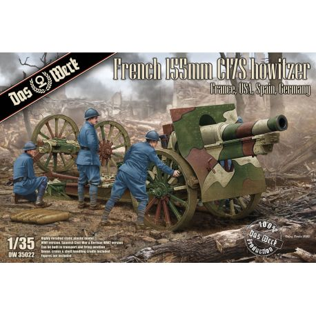 DAS WERK 35022 French 155mm C17S howitzer 1/35