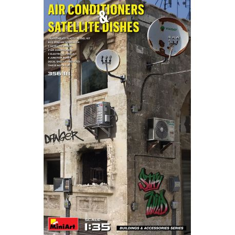 MINIART 35638 AIR CONDITIONERS & SATELLITE DISHES