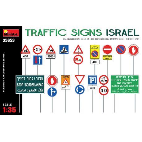 MINIART 35653 TRAFFIC SIGNS. ISRAEL
