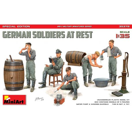 MINIART 35378 GERMAN SOLDIERS AT REST. SPECIAL EDITION