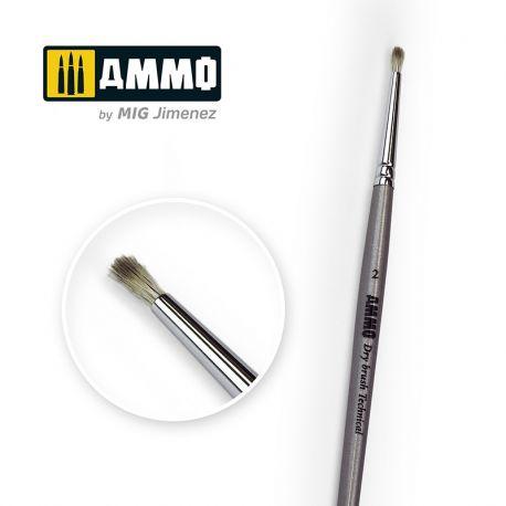 AMMO OF MIG Drybrush Technical Brush