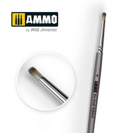 AMMO OF MIG Drybrush Technical Brush 4