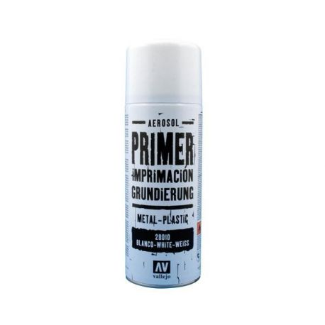 Vallejo PRIMER SPRAY: White Primer 400 ml. - bomboletta da 400 ml.