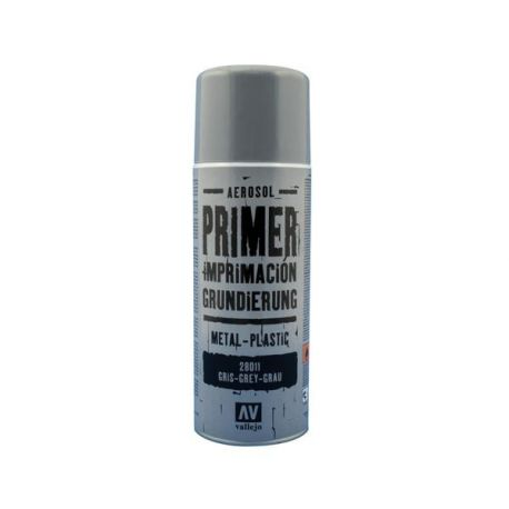 Vallejo PRIMER SPRAY: Grey Primer 400 ml. - bomboletta da 400 ml.
