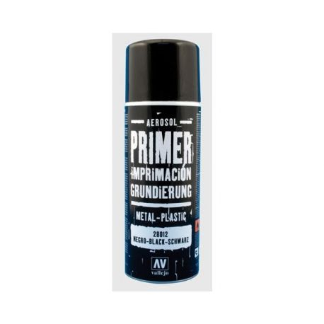 Vallejo PRIMER SPRAY: Black Primer 400 ml.