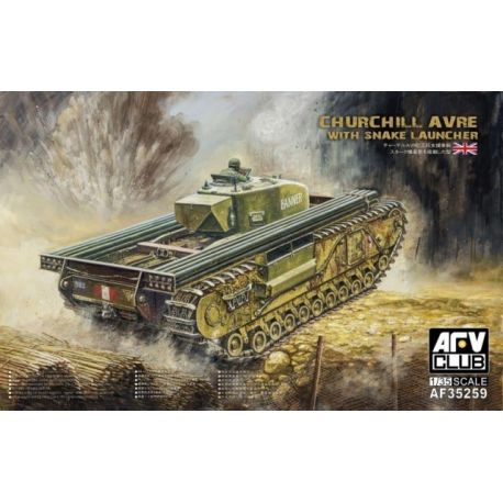 Churchill AVRE with Snake Launcher