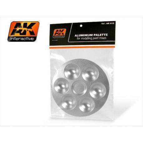 AK INTERACTIVE: Tavolozza in alluminio con 6 vani