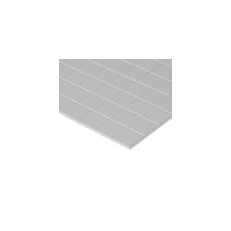 "EVERGREEN 4517 Square Tile (Heavy Groove) .040"" Thick (1,0 mm) Opaque White Styrene"