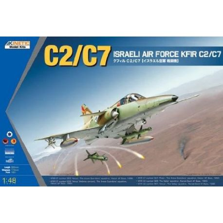 Kinetic Models 48046 1/48 C2/C7 Kfir Israeli AF Fighter-Bomber