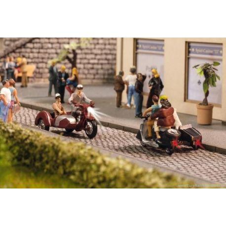 NOCH 17514 MOTOCICLISTI CON MOTO SIDECAR