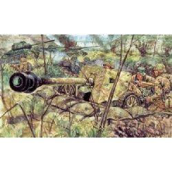 ITALERI 6096 GERMAN PAK 40 AT GUN WITH CREW WWII