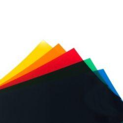 FOGLIO  PVC TRASPARENTE GIALLO (194x320mm)