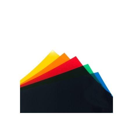 FOGLIO PVC TRASPARENTE ARANCIO (194x320mm)