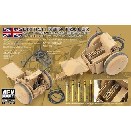 AFV Club British ROTA Trailer w/2 Pounder Ammunition Set