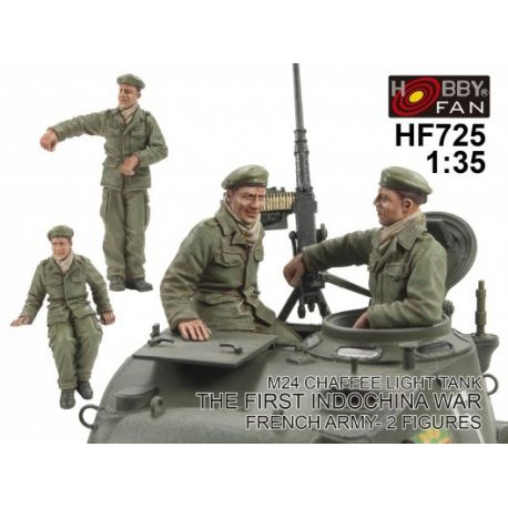 Hobby Fan- Crew For Chaffee Light Tank M24 Indochina War