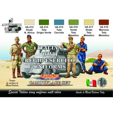 Life Color Italian WWII Regio Esercito uniforms colours