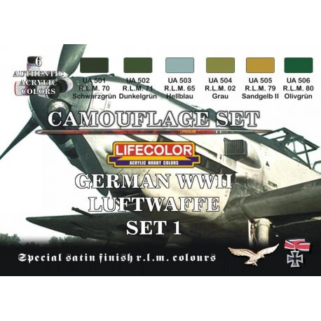 Life Color German WWII Luftwaffe colours set 1