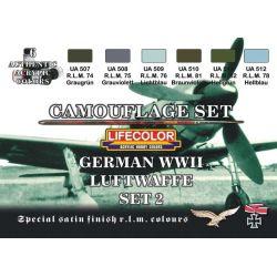 Life Color German WWII Luftwaffe colours set 2