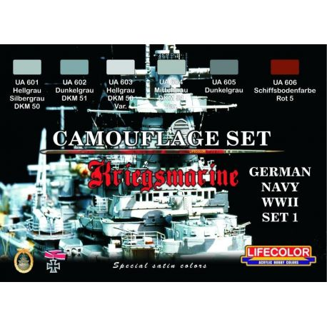 Life Color German WWII Kriegsmarine set 1