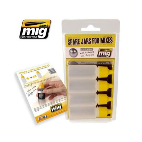 AMMO OF MIG: SPARE JARS FOR MIXES (4 x 17 mL jars with agitator and dosifier)