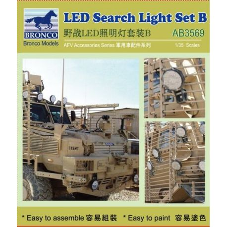BRONCO MODELS 3569 LED Search Light Set B 1/35