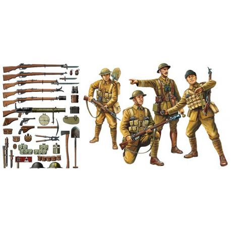 TAMIYA 32409 WWI British Infantry w/Small Arms & Equipment