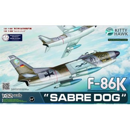 KITTY HAWK 32008 NATO F-86K Sabre Dog Export Interceptor