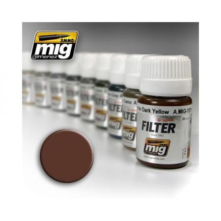 AMMO OF MIG: Filtro BROWN FOR WHITE 35ml