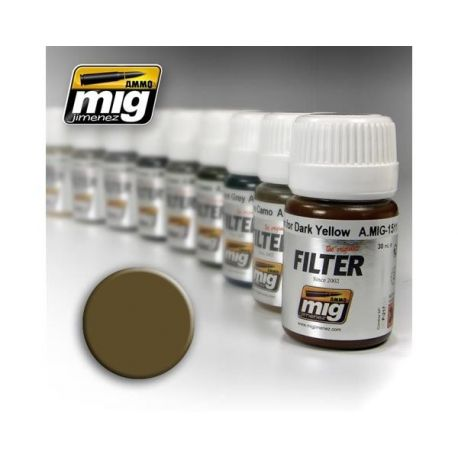 AMMO OF MIG: Filtro BROWN FOR DESERT YELLOW 35ml
