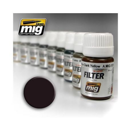 AMMO OF MIG: Filtro BROWN FOR DARK GREEN 35ml