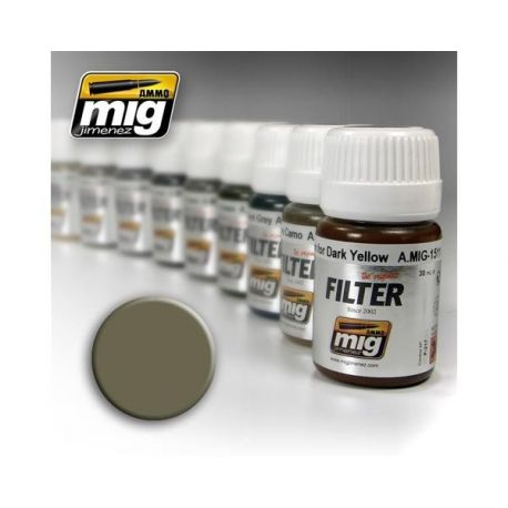 AMMO OF MIG: Filtro TAN FOR YELLOW GREEN 35ml