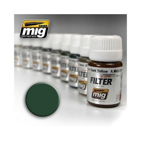 AMMO OF MIG: Filtro OCHRE FOR GREY GREEN 35ml