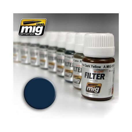 AMMO OF MIG: Filtro BLUE FOR DARK GREY 35ml