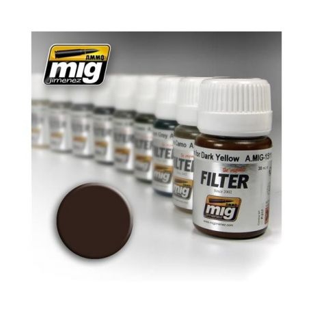 AMMO OF MIG: Filtro BROWN FOR DARK YELLOW 35ml