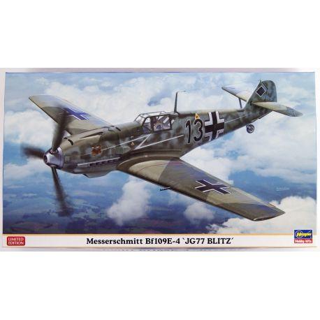 """HASEGAWA 07413 Messerschmitt Bf109E-4 """"JG77 BLITZ"""""""