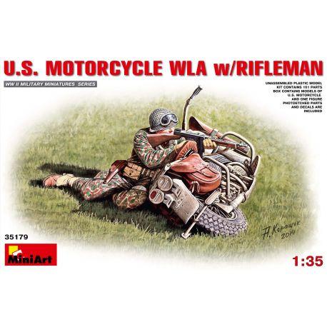 MINIART 35179 U.S. MOTORCYCLE WLA w/RIFLEMAN