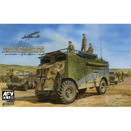 AFV Club 35235 Rommel's Mammoth DAK AEC Armored Command Car