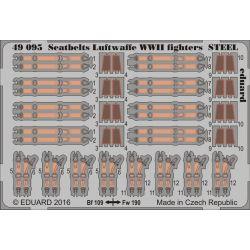EDUARD 49095 Seatbelts Luftwaffe WWII fighters STEEL 1/48