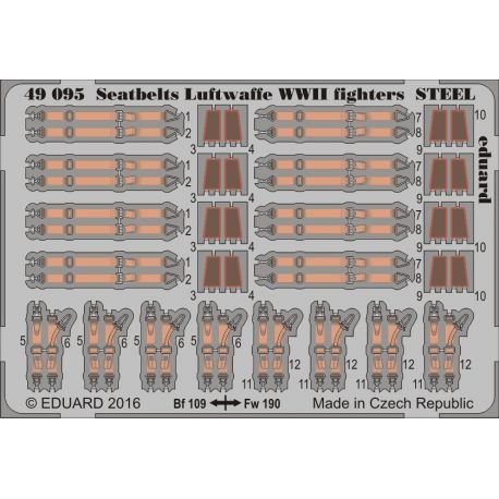 EDUARD 49095 Seatbelts Luftwaffe WWII fighters STEEL 1/48