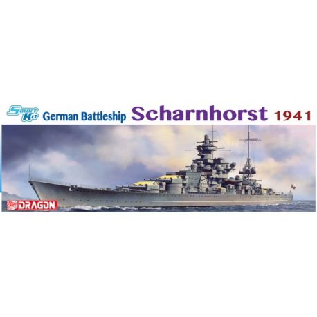 DRAGON 1036 1/350 German Battleship Scharnhorst 1941 - Smart Kit